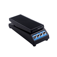 볼륨 페달 내구성 플라스틱 전문 4 채널 효과 페달 무료 커넥터 기타 악기베이스