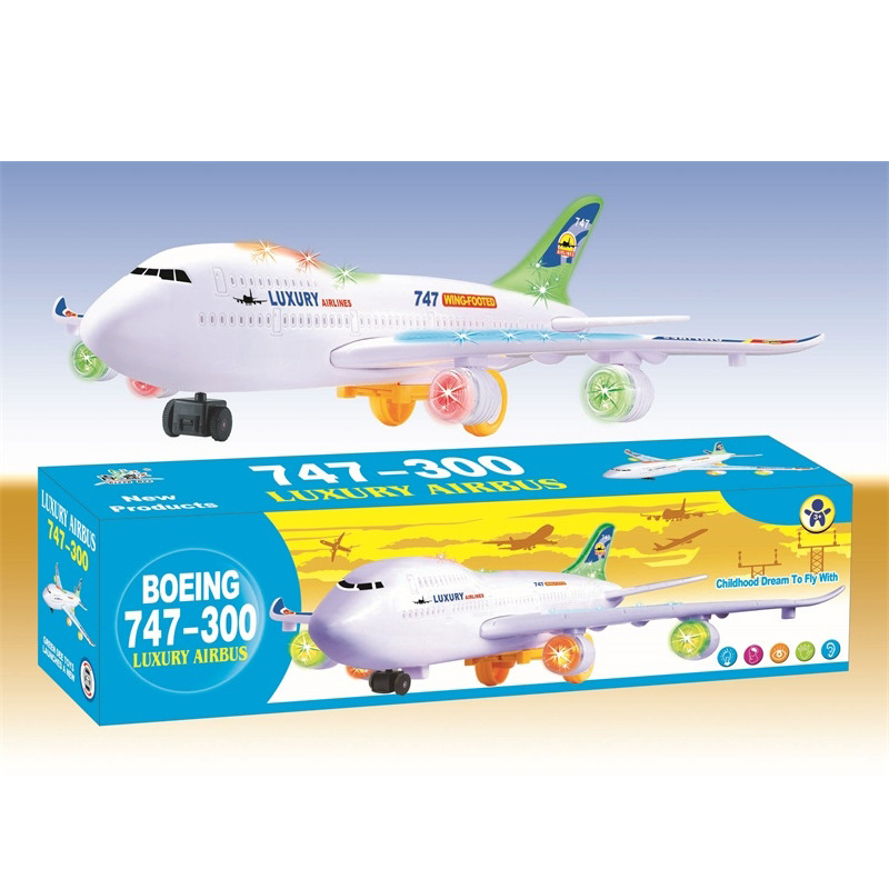 Stall Hot Selling Children Plane Toy Electric Universal Airliner Sound-And-Light Model Aviation Model Toy