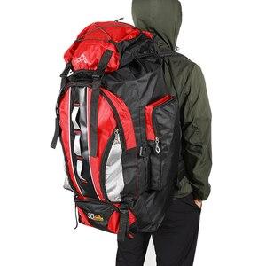 Image 4 - 100L büyük kapasiteli açık spor sırt çantası su geçirmez seyahat çantası yürüyüş tırmanma balıkçılık kamp çanta erkekler ve kadınlar için