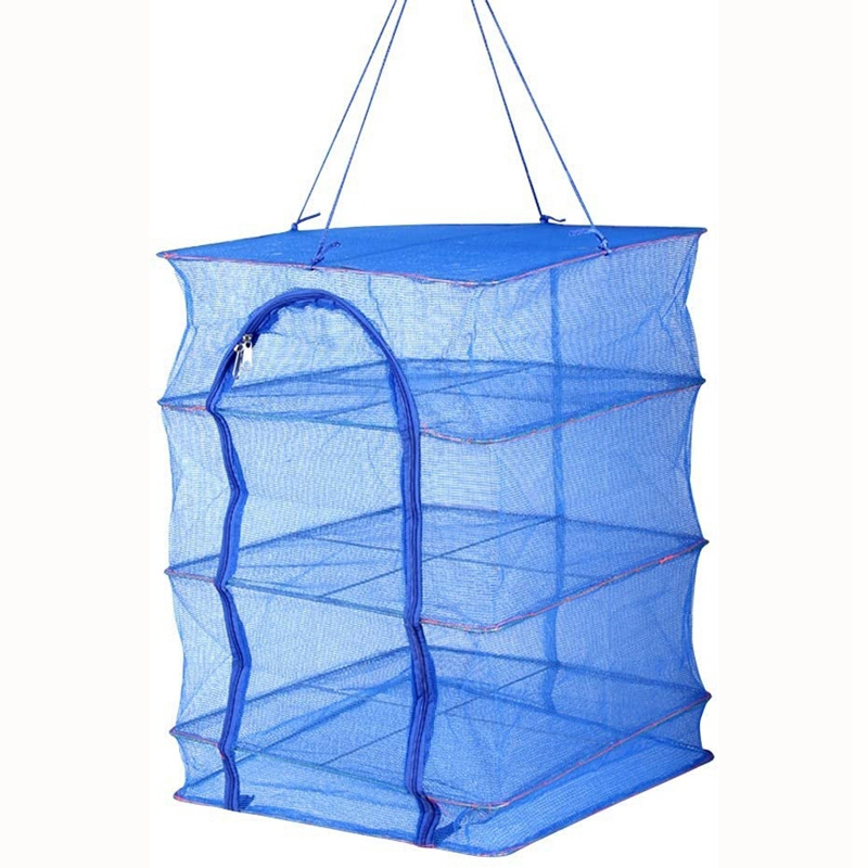 1Pcs Foldable 4 Layers Drying Rack For Vegetable Fish Dishes Mesh Hanging Drying Net Hanging ,Natural Way To Dry Food