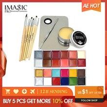 Imagic Professionele Make Up Cosmetica 1 X12 Kleuren Body Schilderen + Huid Wax + Professionele Make Up Remover Make Up Set Gereedschappen
