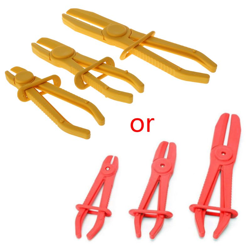 New 3Pcs/Set Vehicle Car Flexible Hose Clamp Kit Line Pipe Pinch Off Plier Brake Fuel Water Line Accessories(China)