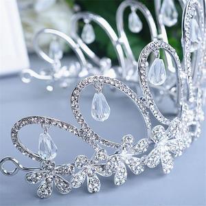 Image 5 - Cristallo Corona Diadema di Gioielli Testa Accessori Per Capelli Diadema Mariage Bijoux De Tete Cheveux Corona Casamento WIGO0719