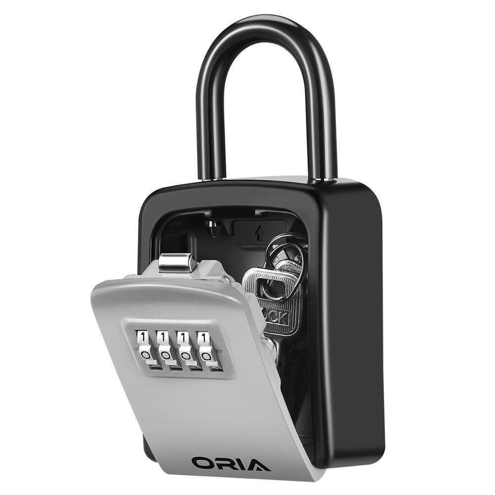 ORIA Password Key Box Outdoor Key Safe Lock Box Decoration Key Code Box Key Storage Lock Box Wall Mounted Password Box