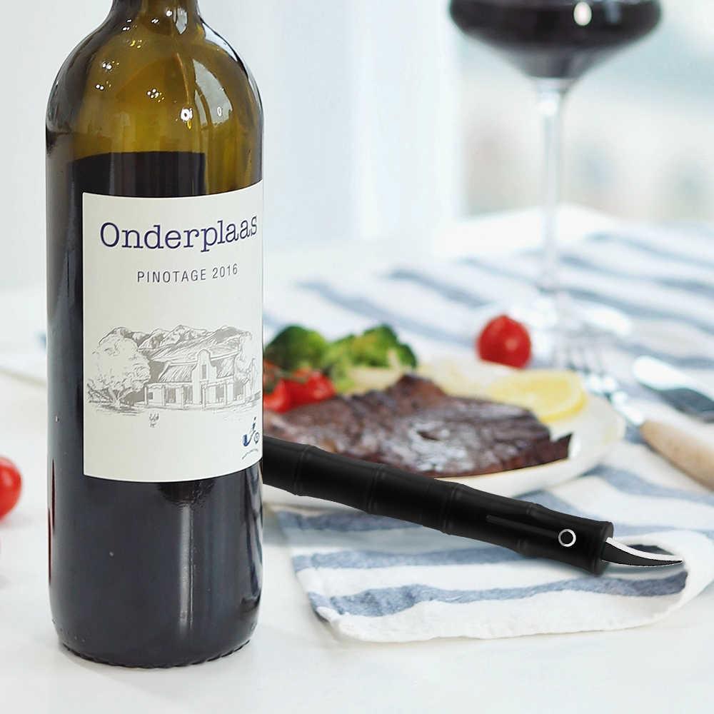 กอนขวดไวน์ที่เปิด Air ความดันสแตนเลสประเภทขาขวดปั๊ม Corkscrew Cork Out Tool สีแดงไวน์