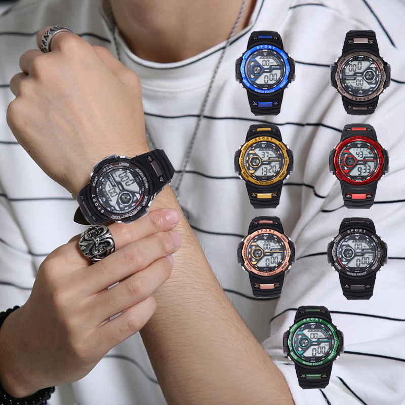 2021 Men Watch LED Digital New Casual Wrist watches Sport Men Gift Unisex LED Digital Watch Man Military Clock Relogio Masculino