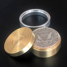 Duvivier Coin Box (Half Dollar) Three In One Box Magic Tricks Fun Close Up Magia Illusion Gimmick Props Appear Vanish Coin Magie coin bomber morgan coin version magic tricks coin gimmick illusion close up prop mentalism