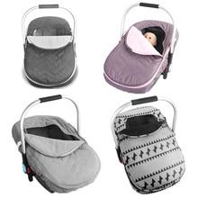 Noworodek kosz na niemowlę pokrowiec na samochód niemowlę przewoźnik zimowa zimna pogoda odporny na koc w stylu baldachim akcesoria do wózka dziecinnego
