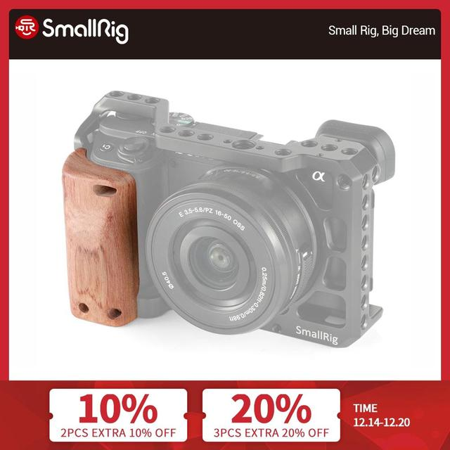 SmallRig a6400 Camera Cage Wooden Handgrip for Sony A6400 Cage Quick Release Wooden Handle Grip  APS2318