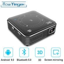 Touyinger D021 Android 9,0 поддержка 4K мини-проектор, 3D HD портативный микро WIFI Bluetooth DLP мобильный светодиодный проектор с батареей, Домашний портативный ...
