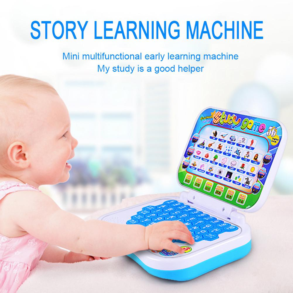 Multifunction Language Learning Machine Kids Laptop Toy Early Educational Computer Tablet Reading Machine image