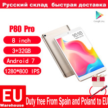 Teclast P80 Pro Android 7.0 MTK8163 Quad rdzeń tabletu komputera 3GB RAM 32GB ROM 1.3GHz podwójne WiFi GPS podwójne aparaty 1920*1200
