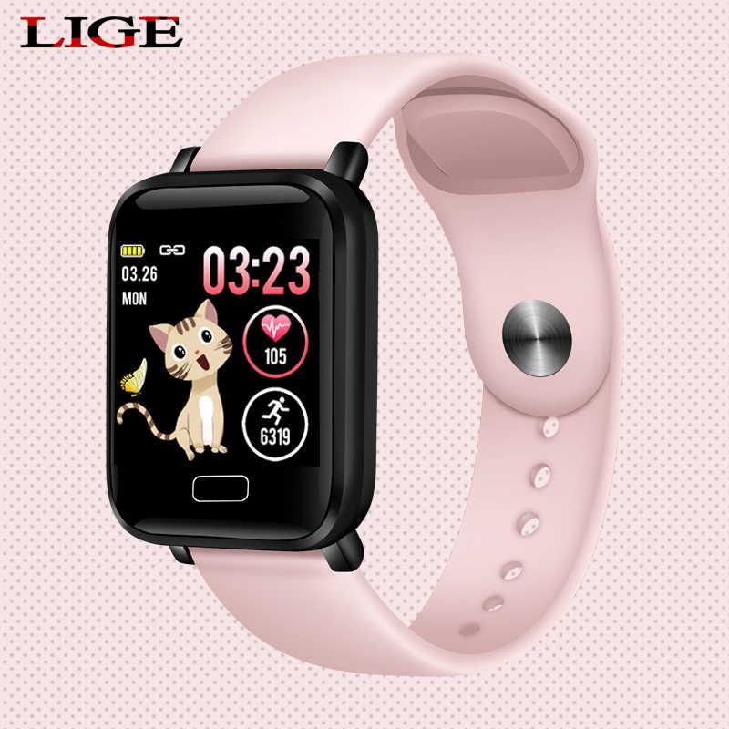 امرأة الساعات الذكية للماء الرياضية ل فون الهاتف Smartwatch مراقب معدل ضربات القلب ضغط الدم وظائف للطفل والرجال