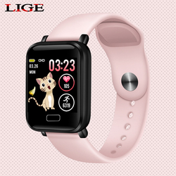 Woman Smart watches Waterproof Sports For Iphone phone Smartwatch Heart Rate Monitor Blood Pressure Functions For kid and Men