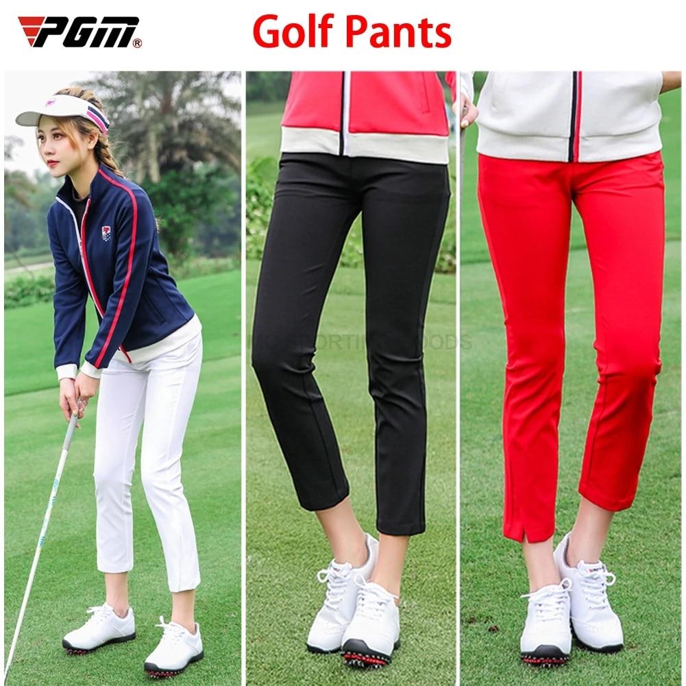 1 Pza Pantalones De Golf Mujer Ninas Ropa Primavera Otono Alto Elastico Suave Pantalones Para Golfistas Jugar Pelota De Golf Senora Ropa A Estrenar Pantalones De Golf Aliexpress