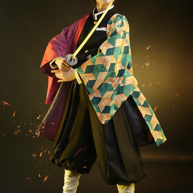 Hot Demon Slayer Member Tomioka Giyuu Kimono Uniforms Cosplay Costume Free Shipping