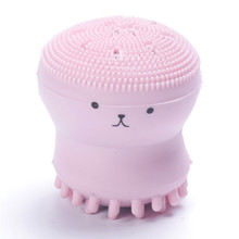 цены Hot Sale Cute Octopus Shape Silicone Facial Cleansing Brush Powerful Deep Pore Cleansing Exfoliator Face Washing Brush Skin Care