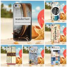 Oedmeb For iPhone 4S 5S 5C SE 6S 7 8 Plus X Galaxy Note 5 6 8 S9+ Grand Core Prime Alpha Soft Protective Wanderlust(China)