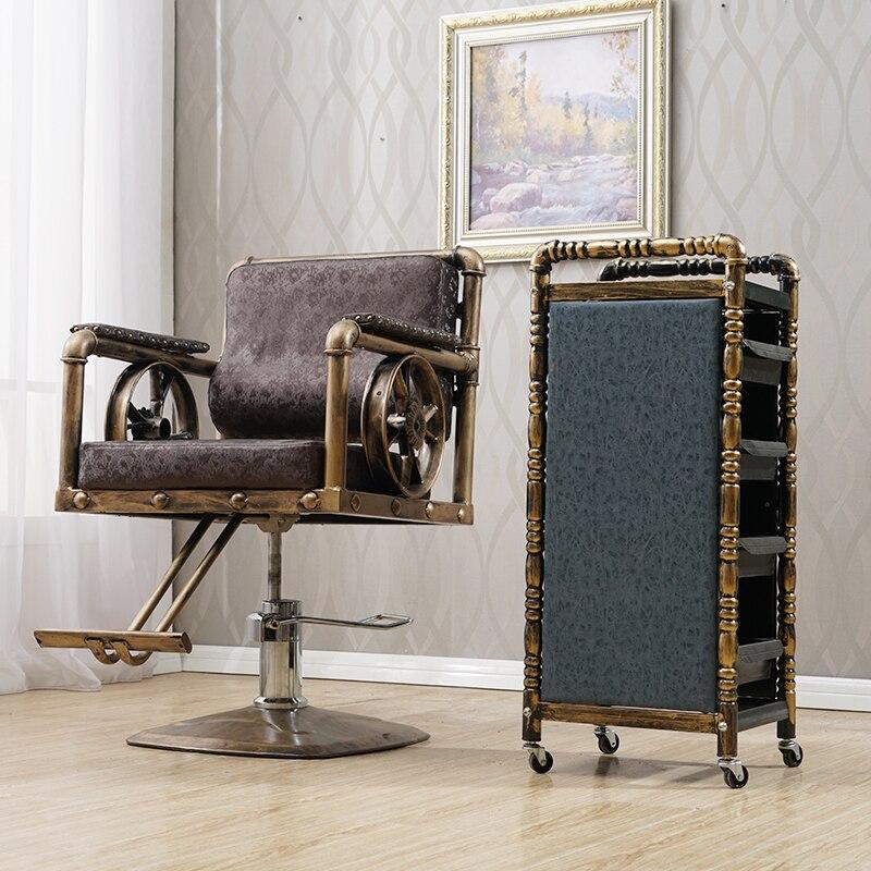 Beauty Salon Chair Iron Salon Chair Haircut Shop Chair Retro Barber Shop Chair Fashion Hair Salon Special Chair