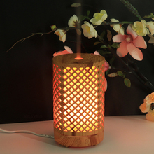 OTOKU 100ML Bamboo Air Humidifier Essential Oil Diffuser  Aromatherapy Electric Aroma Mist Maker with 7 LED Color Light