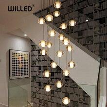 10cm Glass Crystal Ball Chandelier LED Luxury Lamp Pendant Lamp Hanging Interior Ladder Corridor stairs Lamps цена в Москве и Питере