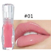 Brillo de labios de menta Natural HANDAIYAN sexy 3D cristal jalea Color labial hidratante lápiz labial líquido de larga duración 24 horas TSLM1
