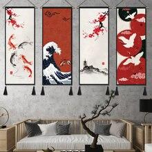 Japon Ukiyo büyük dalga kaydırma boyama sanatı ev dekor tuval boyama oturma odası duvar resmi japonya posteri dekorasyon