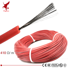 цена на 1k 410ohm silicone rubber carbon fiber heating cable 5V-220V floor heating low cost high quality infrared heating wire