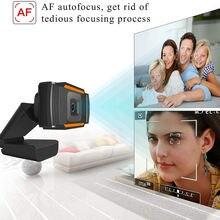 Веб камера с микрофоном 1080p usb поворот на 110 градусов