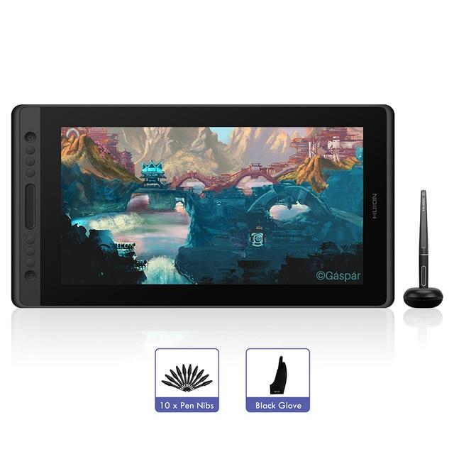 """Huion tablette graphique Kamvas Pro 16, 15.6 """", avec stylet sans batterie, écran numérique pour dessin"""