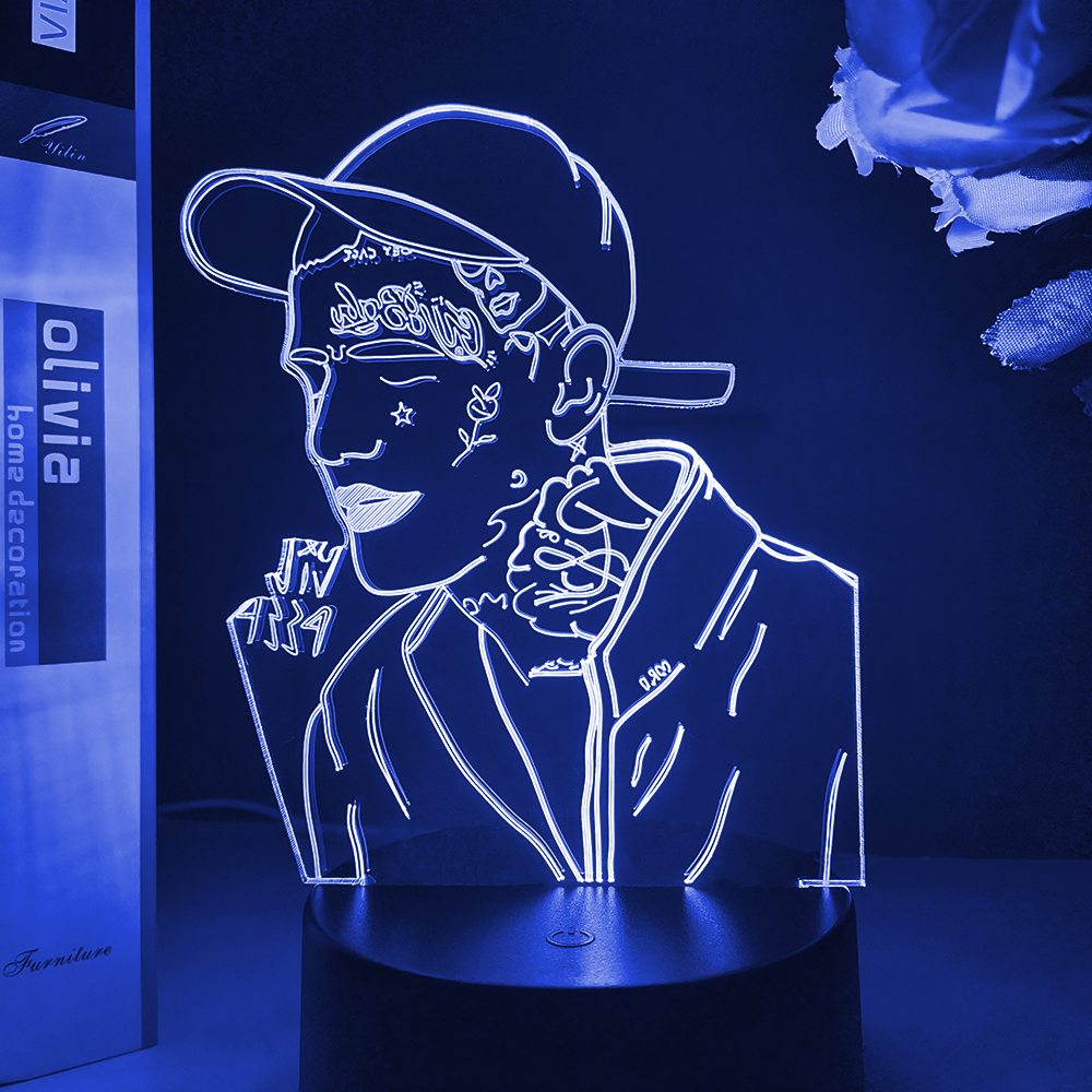 Permalink to American Rapper Lil Peep Led Night Light for Home Decoration Colorful Night Light for Children Dropshipping 3d Lamp Celebrity