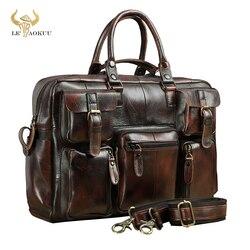 Original en cuir hommes mode sac à main mallette d'affaires Commercia Document ordinateur portable étui Design mâle Attache portefeuille sac 3061-bu