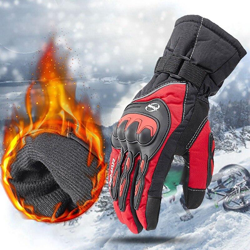 Зимние уличные велосипедные перчатки, ветрозащитные перчатки с сенсорным экраном, теплые перчатки для верховой езды