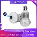 Панорамная камера с углом обзора 360 °, 2 в 1, домашняя универсальная камера с лампочкой «рыбий глаз» с подсветкой E27, двухстороннее аудио, дома...