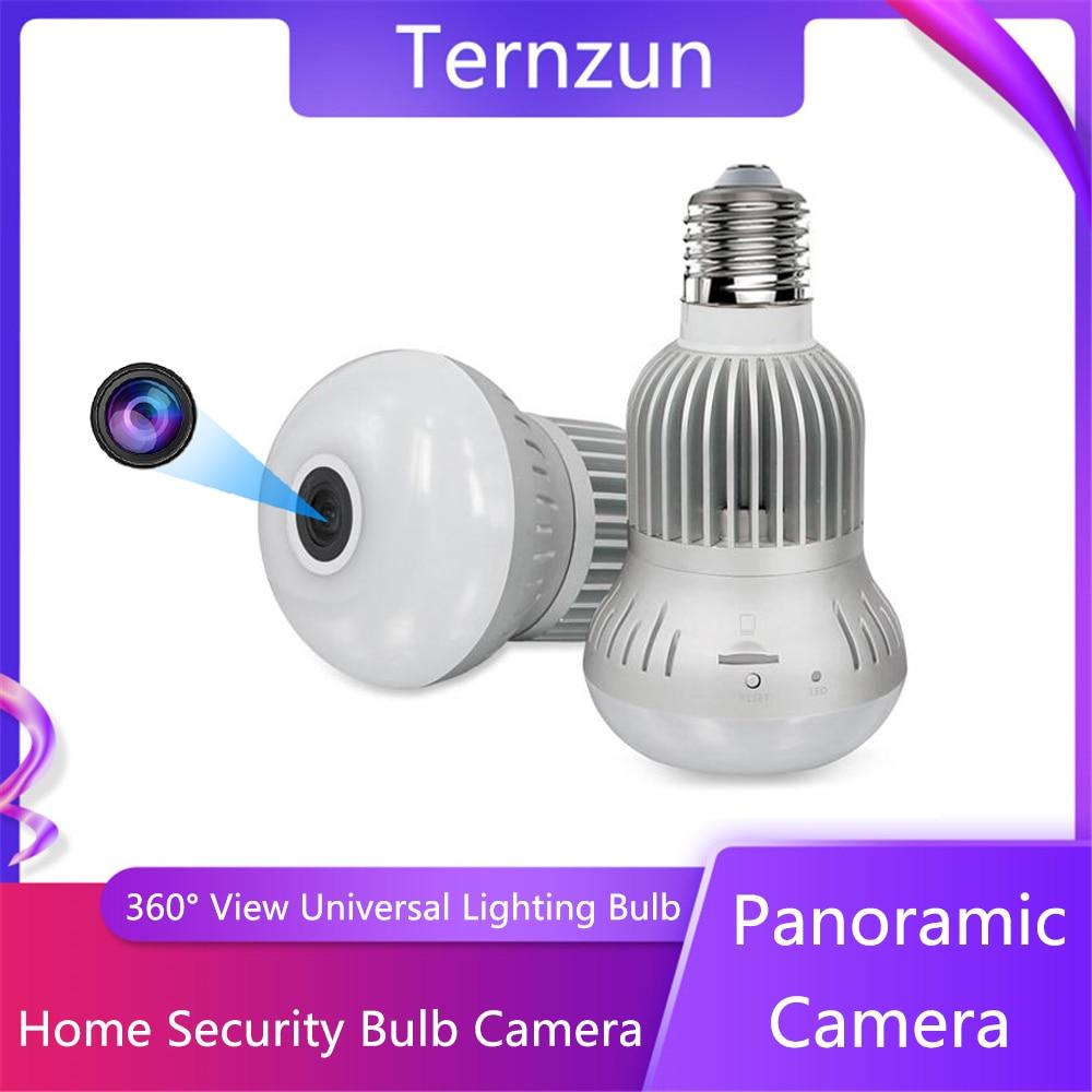 360 ° câmera panorâmica 2 em 1 casa universal e27 iluminação fisheye bulbo câmera em dois sentidos áudio vigilância de segurança em casa wi-fi