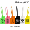 100 Custom Product Hang Tags Label Plastic Security Garment Clothes Shoes Bag Key Gift Logo Brand Printed Labels Tag 160mm/6.3