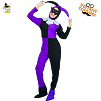 QLQ Halloween Woman Funny Clown Costume Carnival Party Role Play Sexy Joker Outfits for Women Fancy Dress Poker Jungle Costume