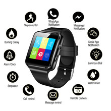 NEW Sport Fitness Tracker Watch X6 Smart Watch Men Women Support SIM TF Card Camera Pedomet Smartwatch Bluetooth for Android IOS(China)