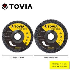 Image 2 - TOVIA disco abrasivo abrasivo 115mm Poly Strip Disc Grinder Wheel rimuovi ruggine vernice auto 125mm disco abrasivo per smerigliatrice angolare