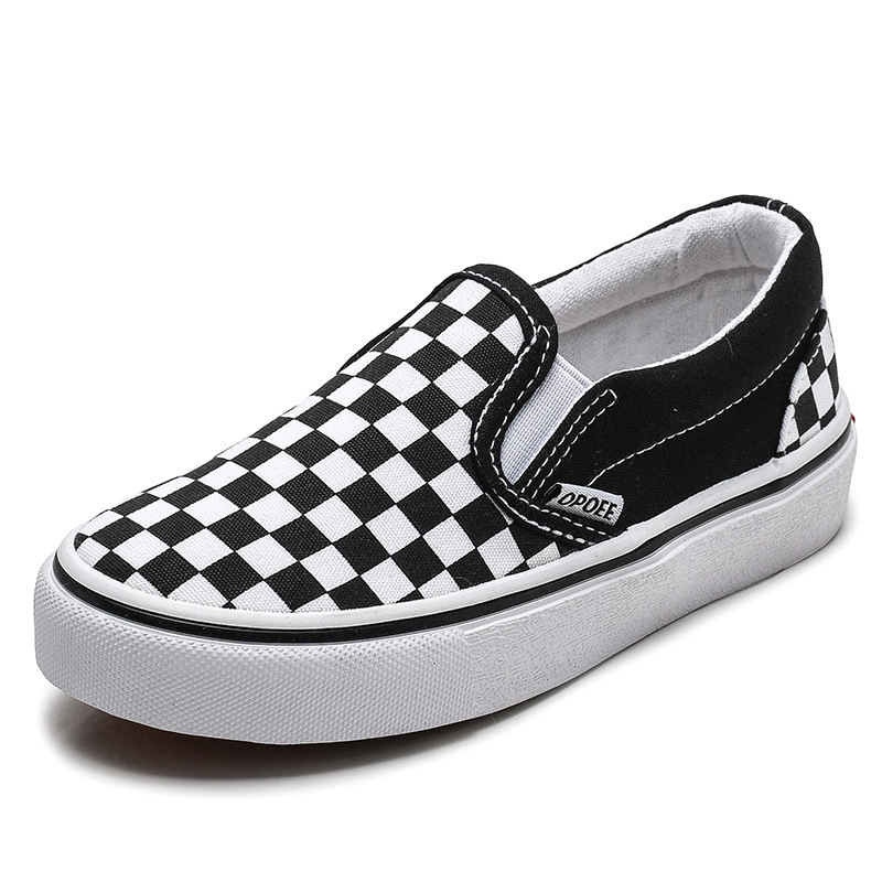 New Childrens Canvas Shoes Spring Autumn Boys Girls Fashion Sneakers Slip-on Kids Flat Non-slip Skate Shoes Casual Sports Shoes