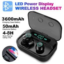 FBYEG M7 TWS Bluetooth 5,0 наушники беспроводные наушники с дисплеем питания спортивные стерео беспроводные наушники гарнитура с зарядным устройством