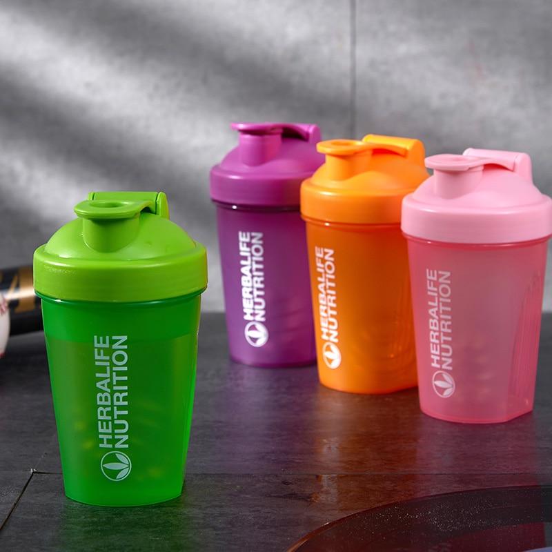 400 Ml Whey Protein Powder Mixing Bottle Sports Fitness Gym Bottle Outdoor Portable Plastic Drinking Bottle Sports Shaker Bottle