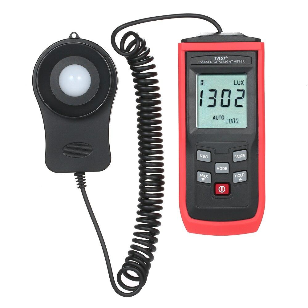 TASI Handheld Mini Digital Photometer Luxmeter LCD Luminometer Light Meter 0-199999 Lux Illuminance Meter Digital LUX Meter