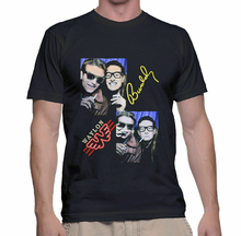 Rare Buddy Holly E Waylon Jennings Mens T Shirt Nero Taglia S M L 234Xl Bc388(China)