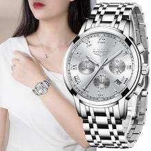 LIGE 2021 nowych moda kobiet zegarki Top damski marka luksusowe kreatywne stalowe bransoletki z zegarkiem kobiet wodoodporny zegarek kwarcowy tanie tanio QUARTZ Klamerka z zapięciem CN (pochodzenie) STAINLESS STEEL 3Bar Moda casual 22mm ROUND 12mm stoper Odporna na wstrząsy