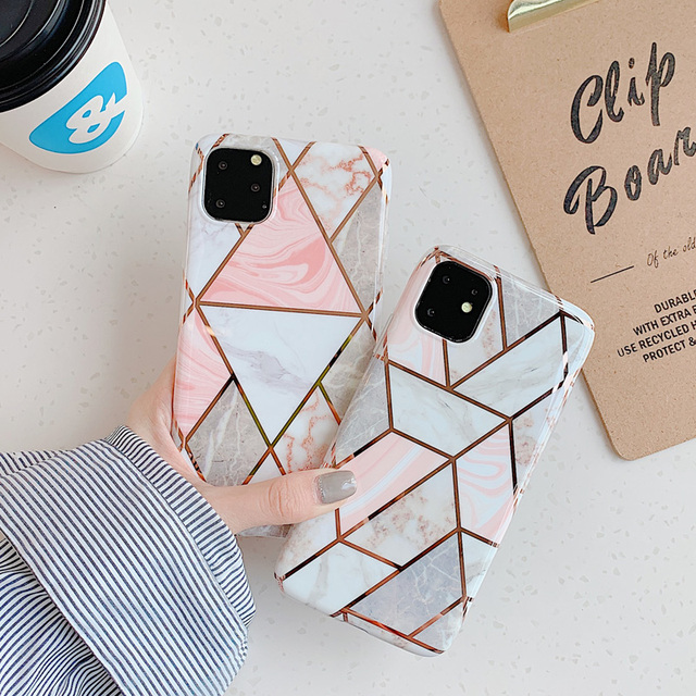 Marble Plating Case for iPhone SE (2020) 6