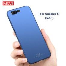 Oneplus 5 caso msvii marca magro fosco capa um mais 5 t casos oneplus 5 t caso capa dura para um plus 5 t oneplus5 casos