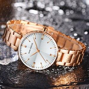 Image 4 - Mini focus 유명 브랜드 쿼츠 시계 reloj mujer 럭셔리 여성 패션 캐주얼 시계 stainles 스틸 레이디 아날로그 시계 방수