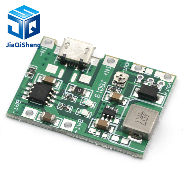 Lithium Li-ion 18650 3.7V 4.2V Battery Charger Board DC-DC Step Up Boost Module Integrated Circuits 1