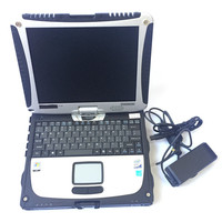 Car diagnostic computer toughbook cf19 laptop 2G ram & rotate screen second hand works for mb star c3 c4 c5 for icom A2 Alldata